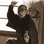 Cada Postura tem uma Atitude Interna. Foto de Takamatsu Sensei em uma atitude.